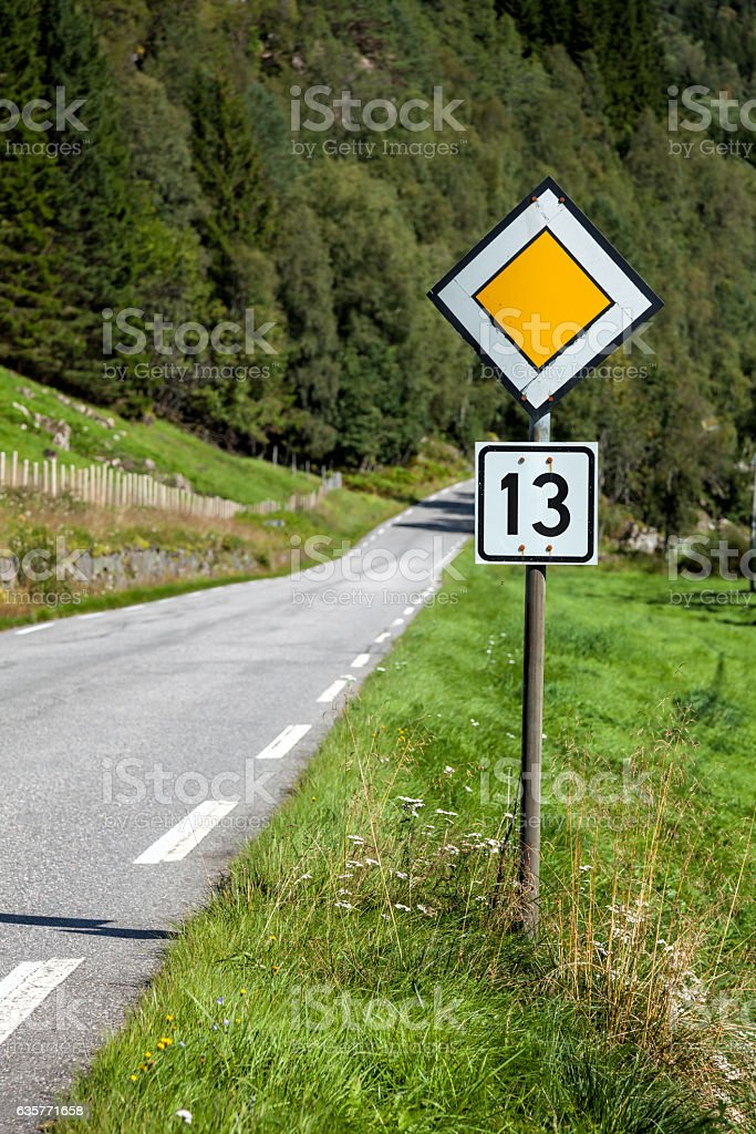 Unlucky or lucky road stock photo