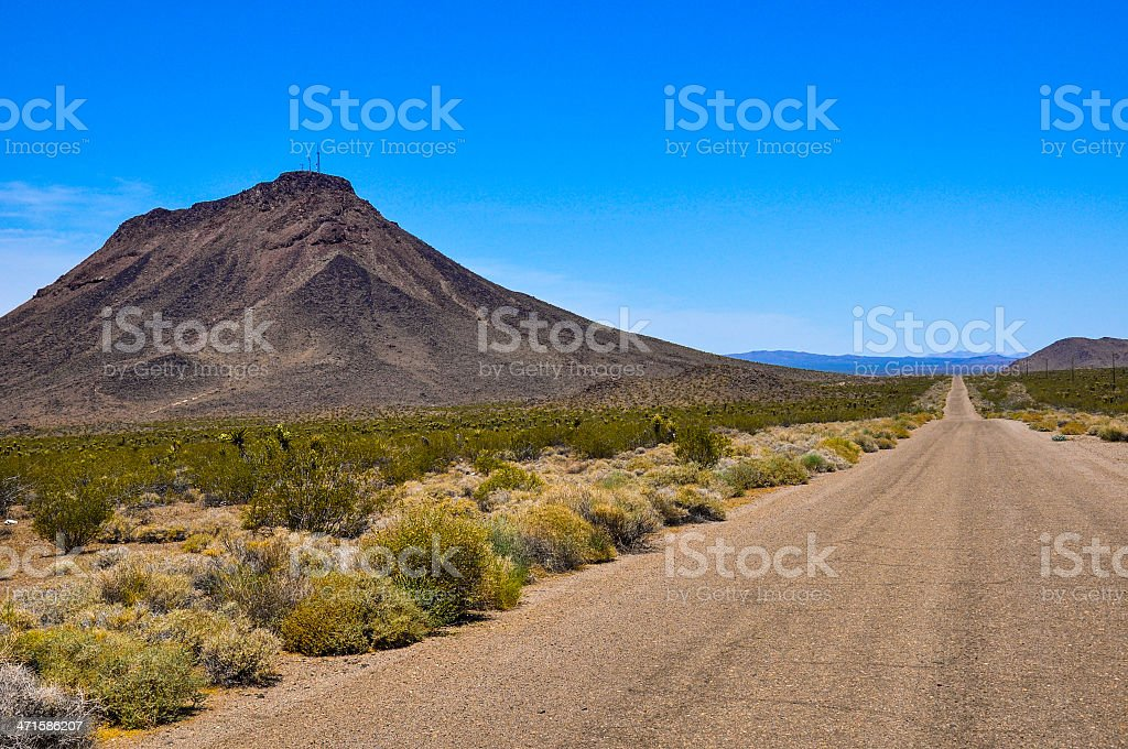 Unmaintained Route 66 royalty-free stock photo