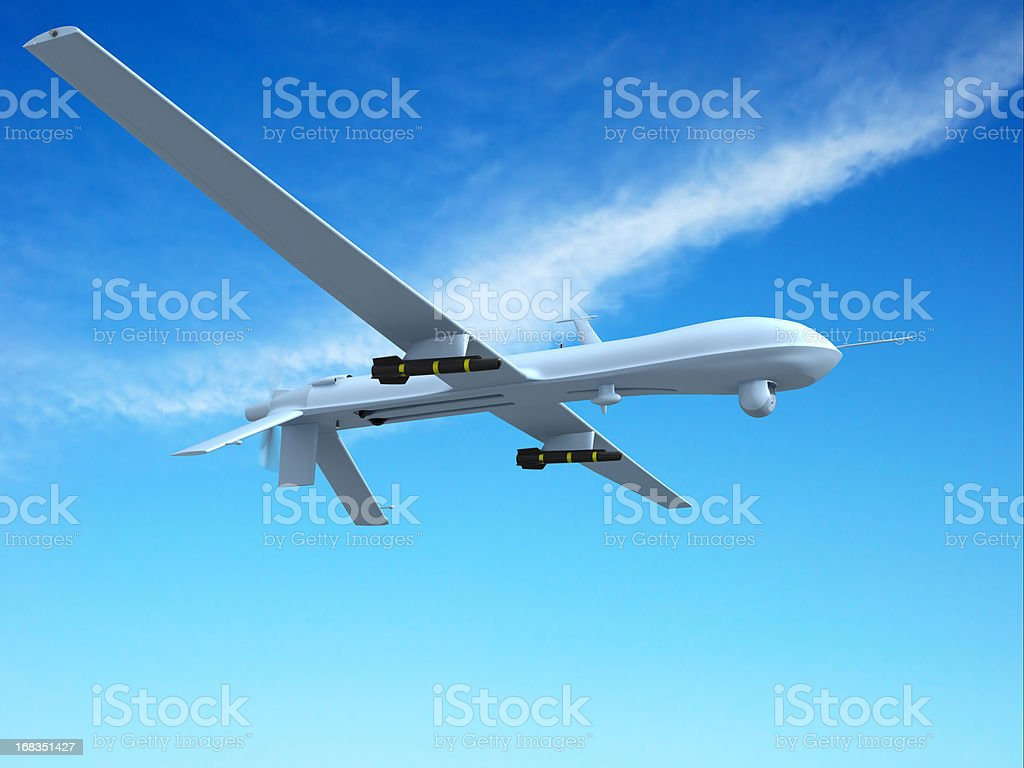 Unmanned Aerial Vehicle (UAV) royalty-free stock photo
