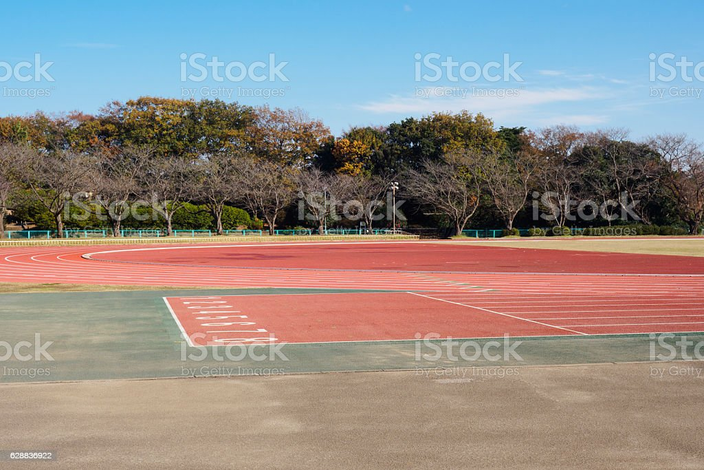 Unmanned Athletics Field stock photo