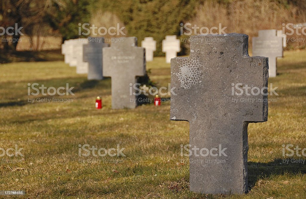 Unmarked Grave royalty-free stock photo