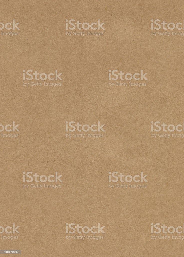 Unmarked rectangular sample of Kraft paper stock photo