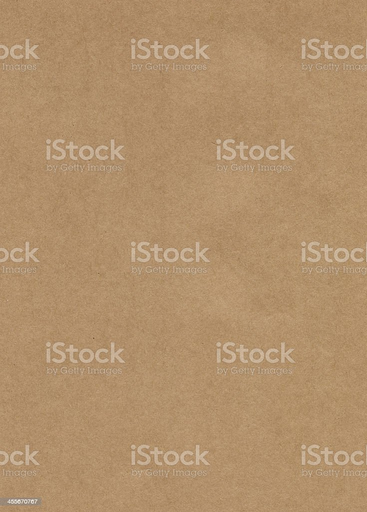 Unmarked rectangular sample of Kraft paper stock photo