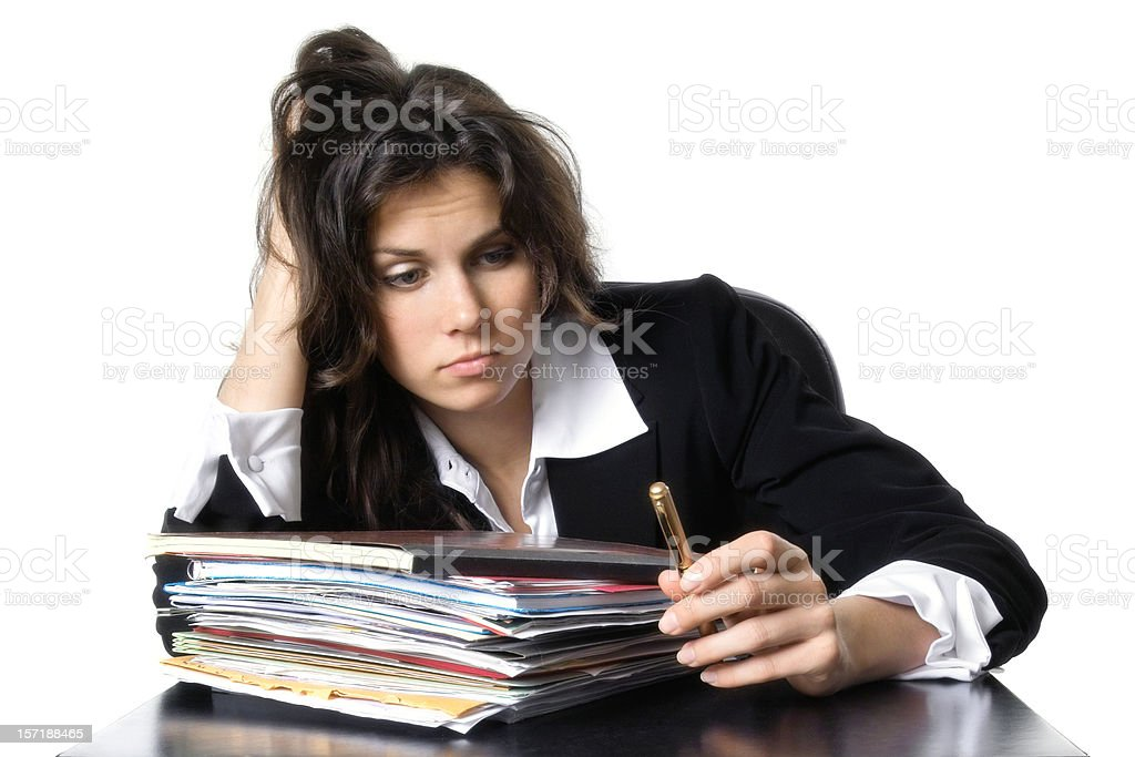 Unmotivated Businesswoman royalty-free stock photo