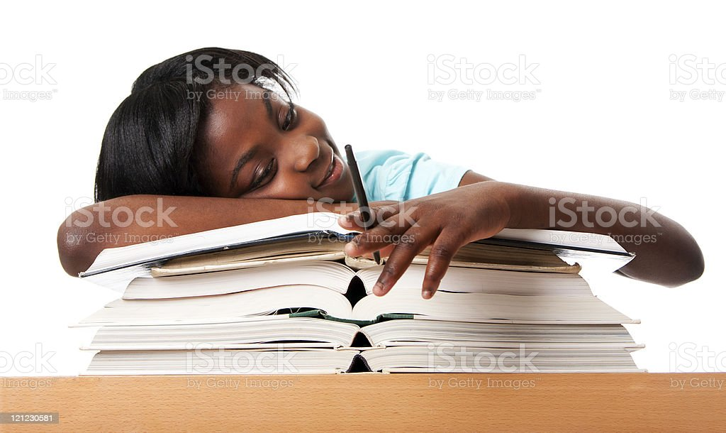 Unmotivated student royalty-free stock photo