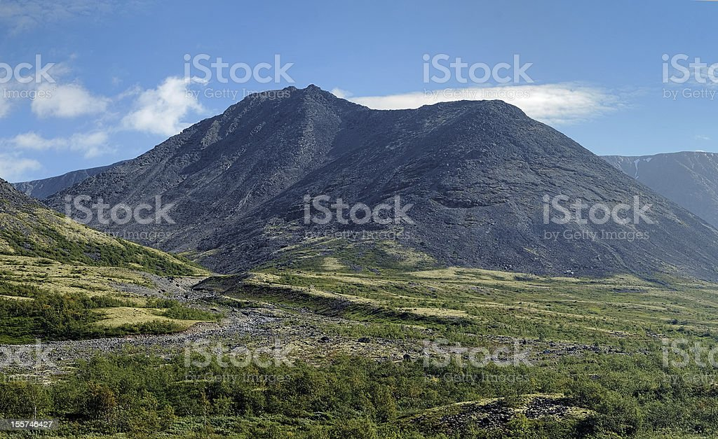 Unnamed peak in Khibiny Mountains, Kola Peninsula, Russia stock photo