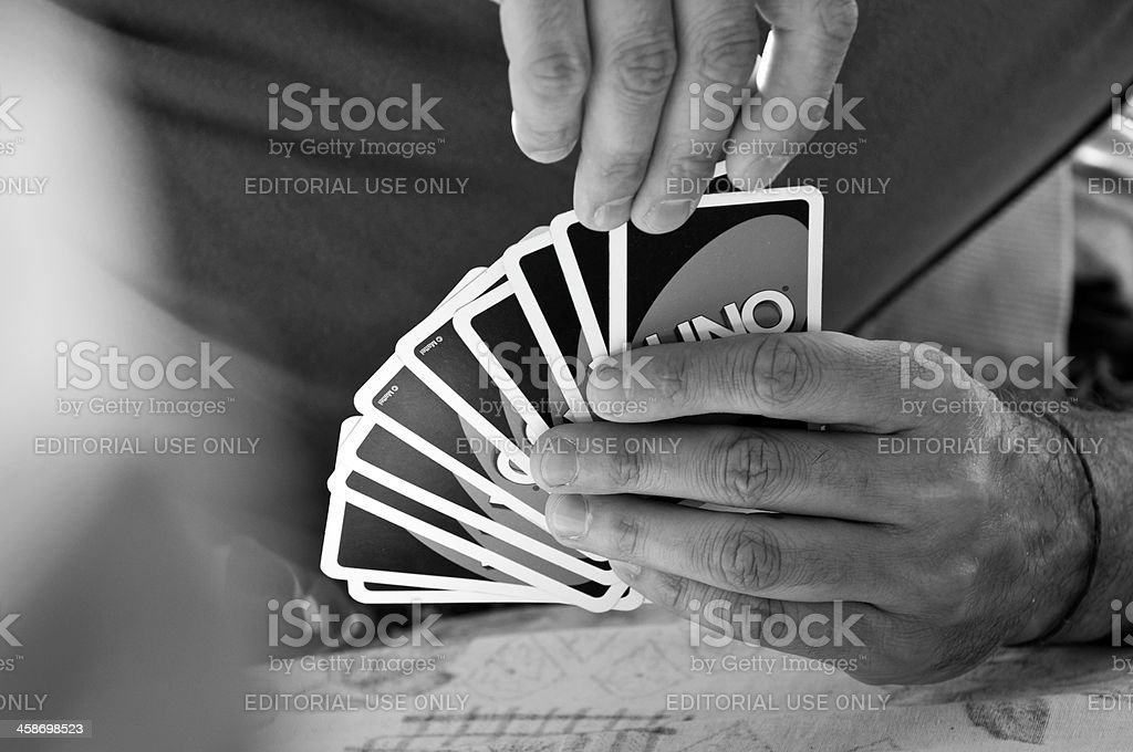 Uno card game stock photo