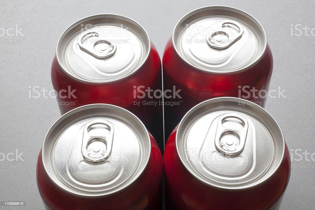 Unopened Aluminum Cans stock photo