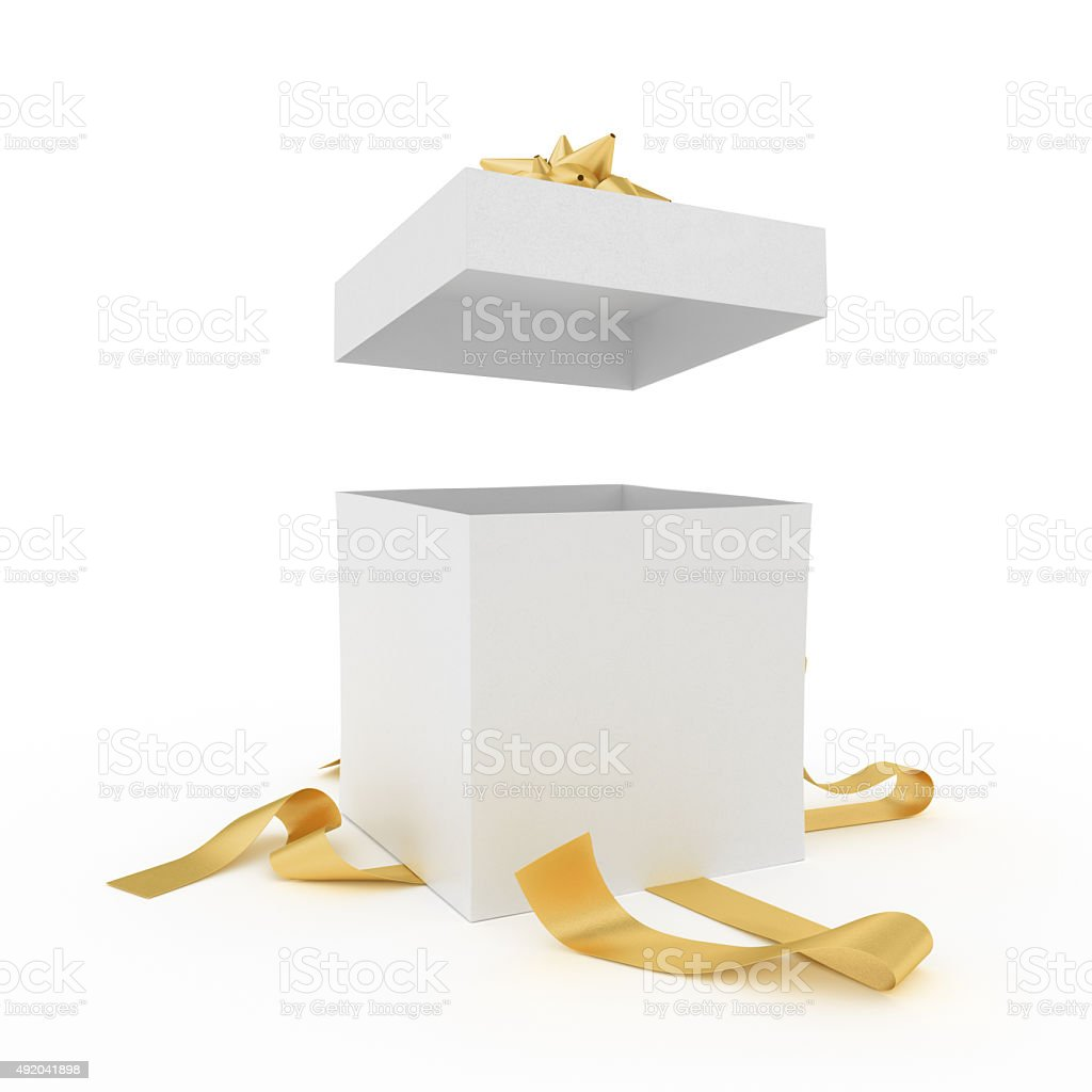 Unpacked present stock photo