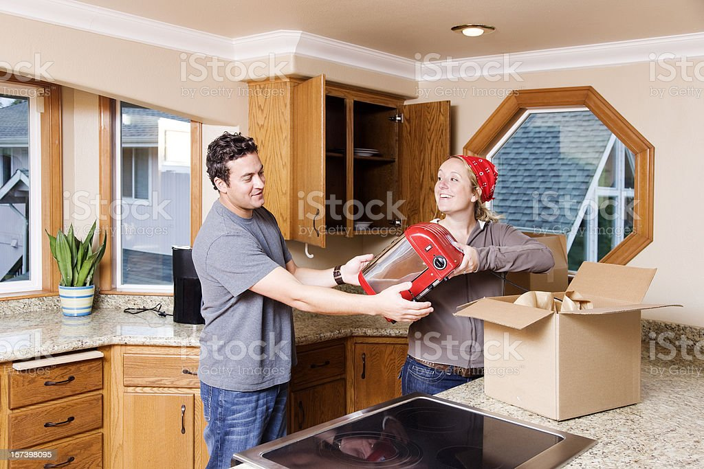 Unpacking the Kitchen royalty-free stock photo