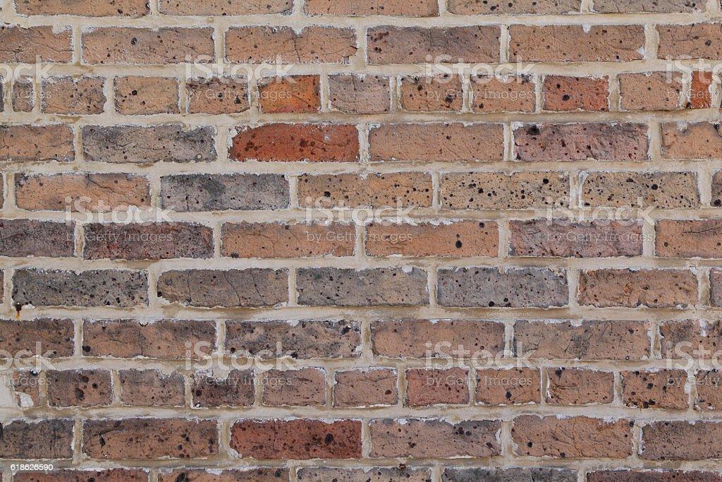 Unpainted Brick Wall stock photo