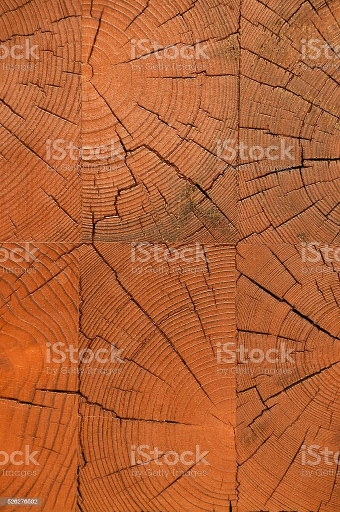 Unpainted wooden wall end texture royalty-free stock photo
