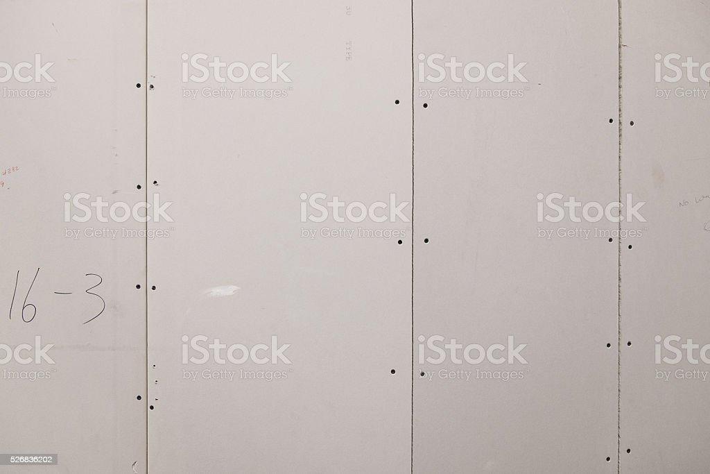 Unplastered Sheetrock Background stock photo
