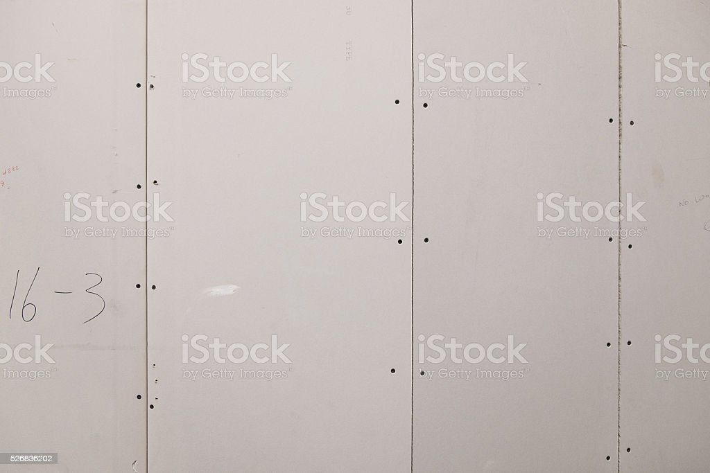 Unplastered Sheetrock Background stock photo