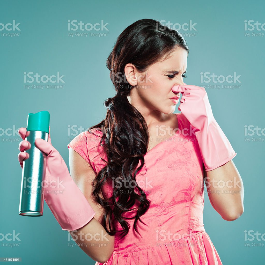 Unpleasant smell stock photo