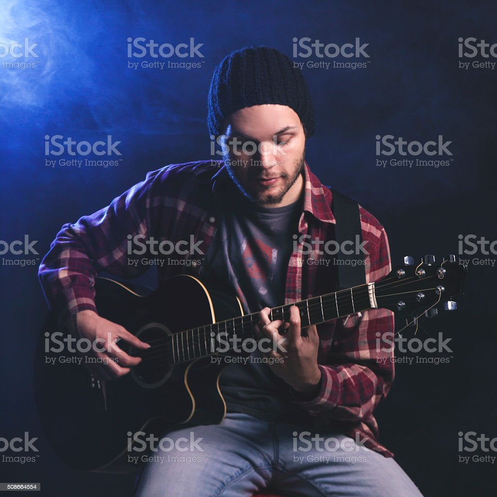 Unplugged concert stock photo