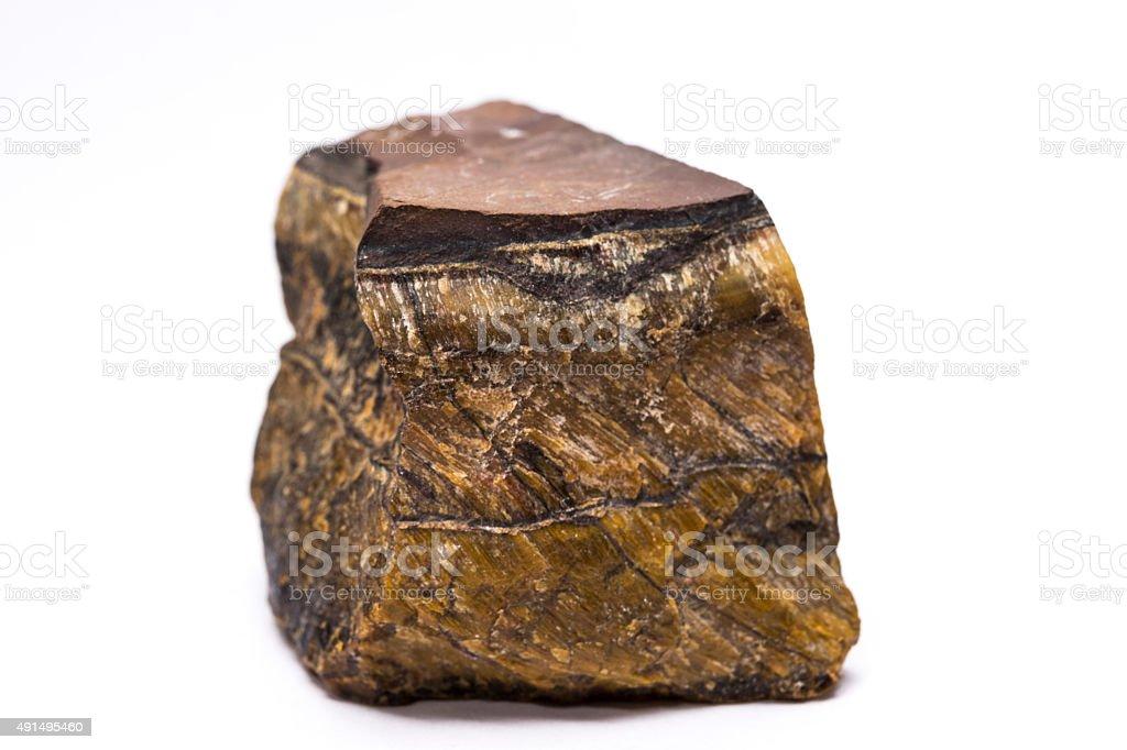 Unpolished Tiger Eye Rock stock photo