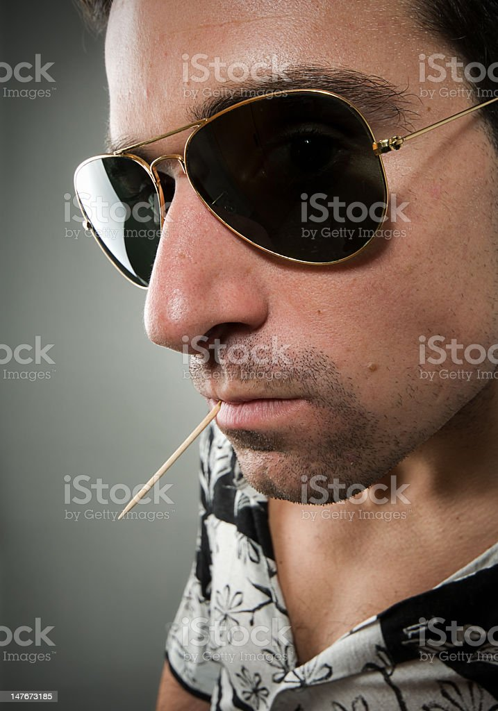 Unpolite man stock photo