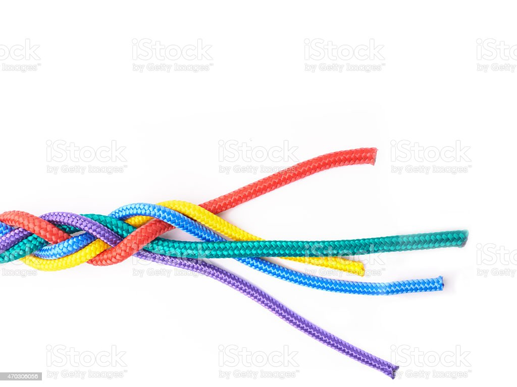 Unravelling... stock photo