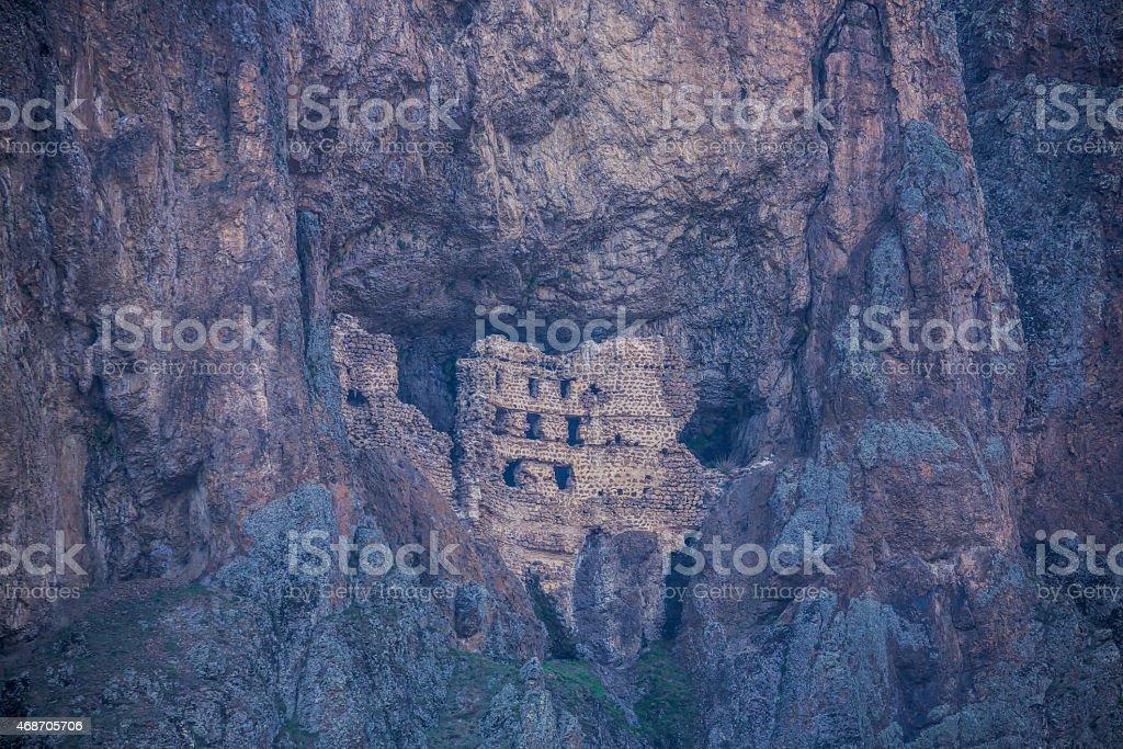 Unreachable Alicin monastery (second Sumela) in Turkey stock photo