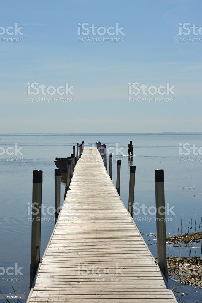 Unreachable water horizon stock photo