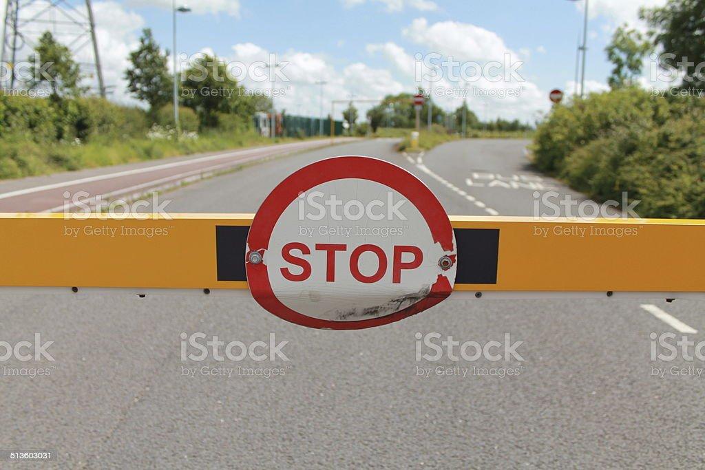 Unread Stop Sign stock photo