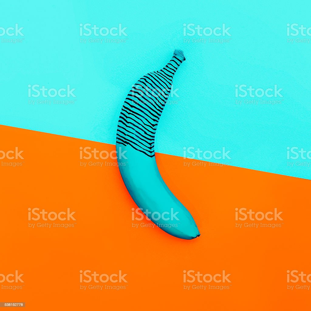 Unreal banana. Fashion minimalism style photo stock photo