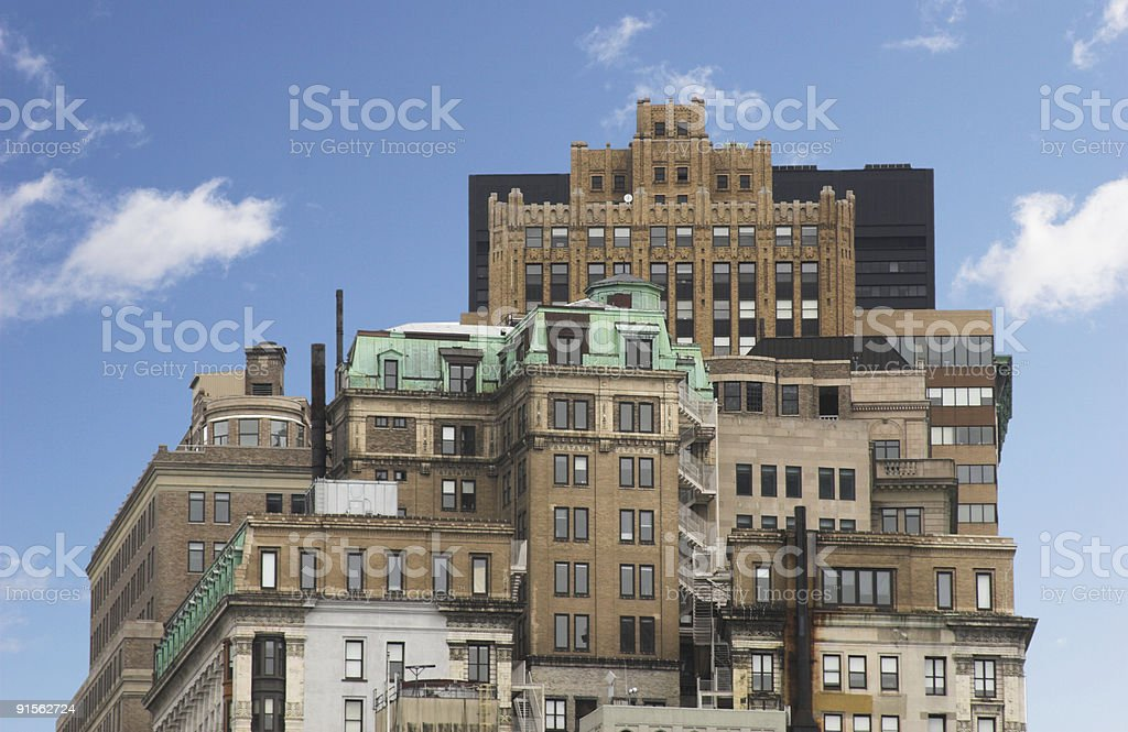 Unreal buildings royalty-free stock photo