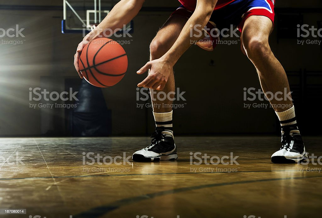 Unrecognizable basketball player dribbling. royalty-free stock photo