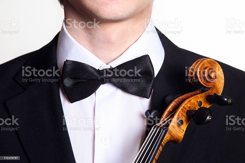 Unrecognizable violinist royalty-free stock photo