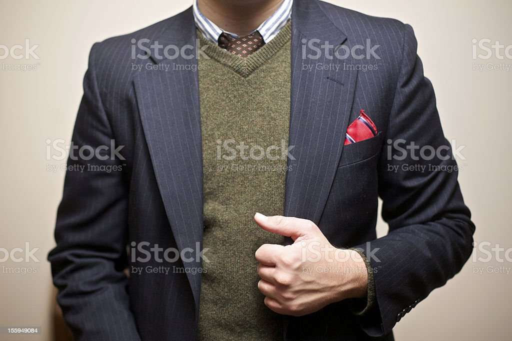unrecognizable young gentleman in fashionable attire stock photo