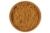 Unrefined unbleached natural Brown sugar in brown color