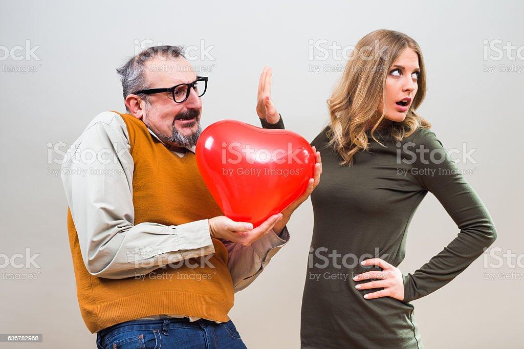 Unrequited love stock photo