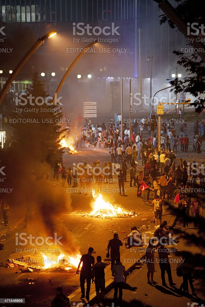 Unrest rages in Capital Ankara, Turkey stock photo