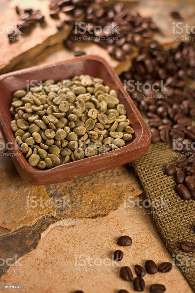 Unroasted Coffee royalty-free stock photo