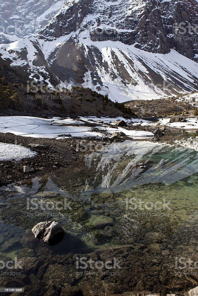 Unruffled surface of the lake royalty-free stock photo