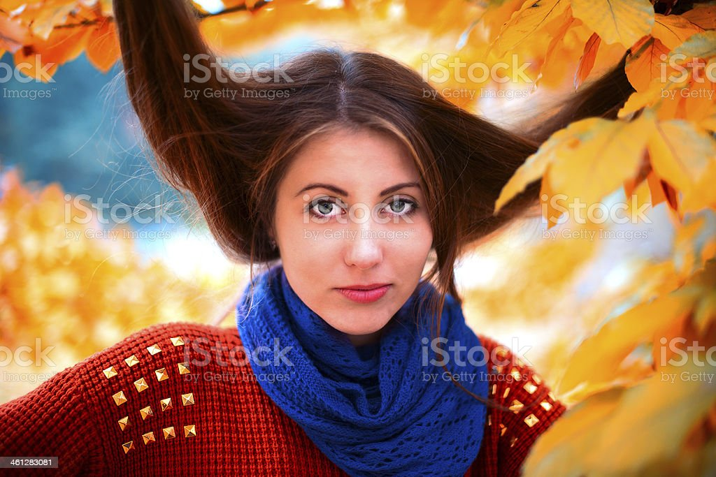 Unruly hair royalty-free stock photo