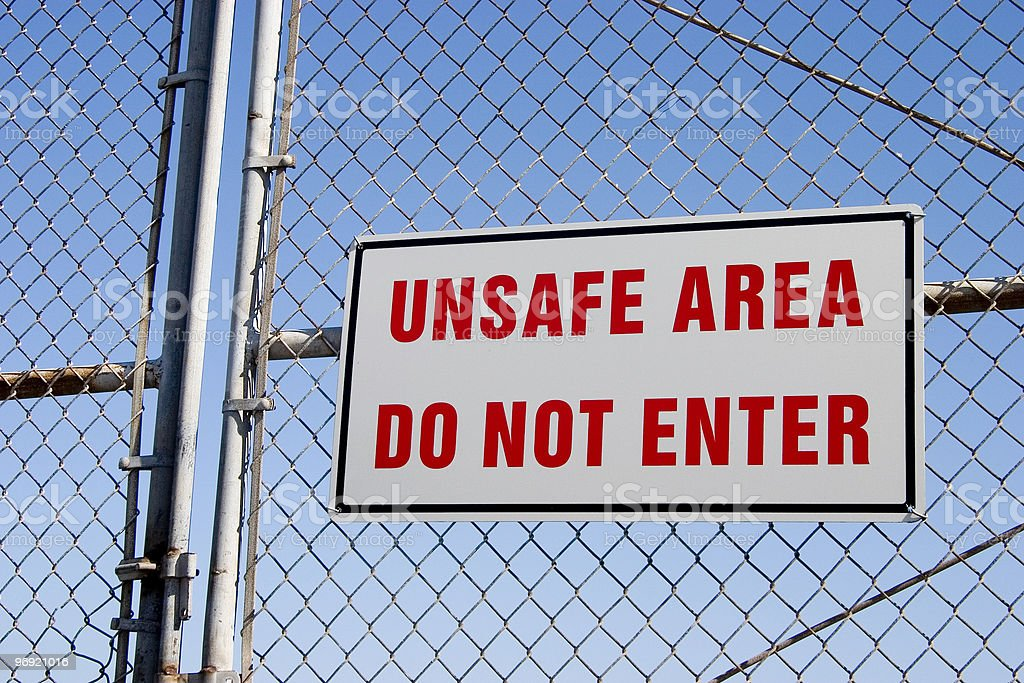 Unsafe Sign 2 royalty-free stock photo