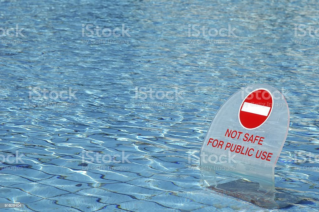 unsafe water royalty-free stock photo
