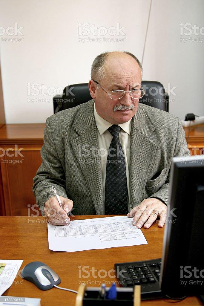 Unsatisfied businessman stock photo