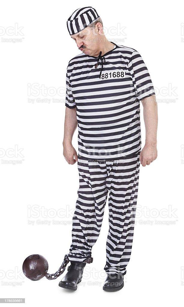 unsatisfied prisoner royalty-free stock photo