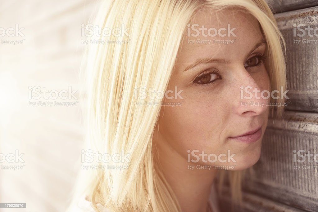 unsatisfied woman portrait royalty-free stock photo