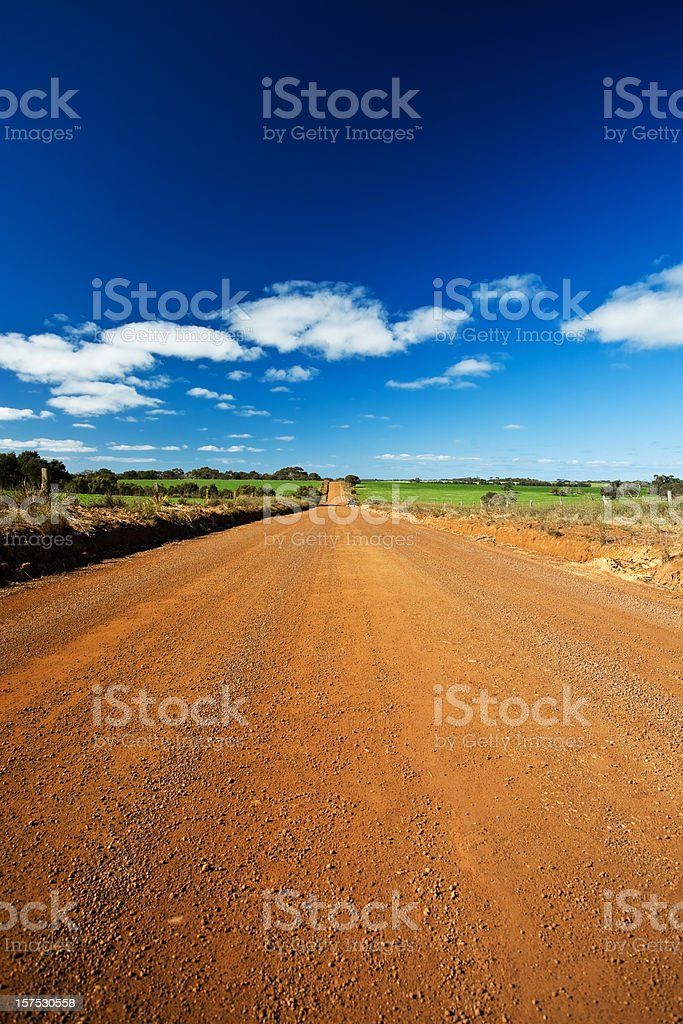 Unsealed country road royalty-free stock photo