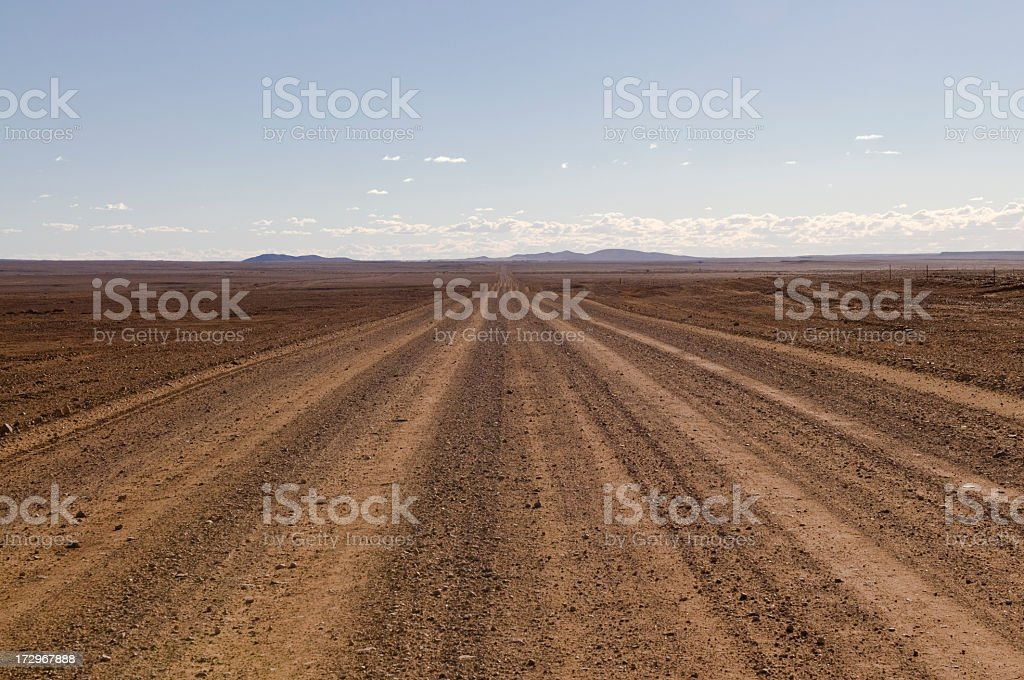 Unsealed Outback Road stock photo