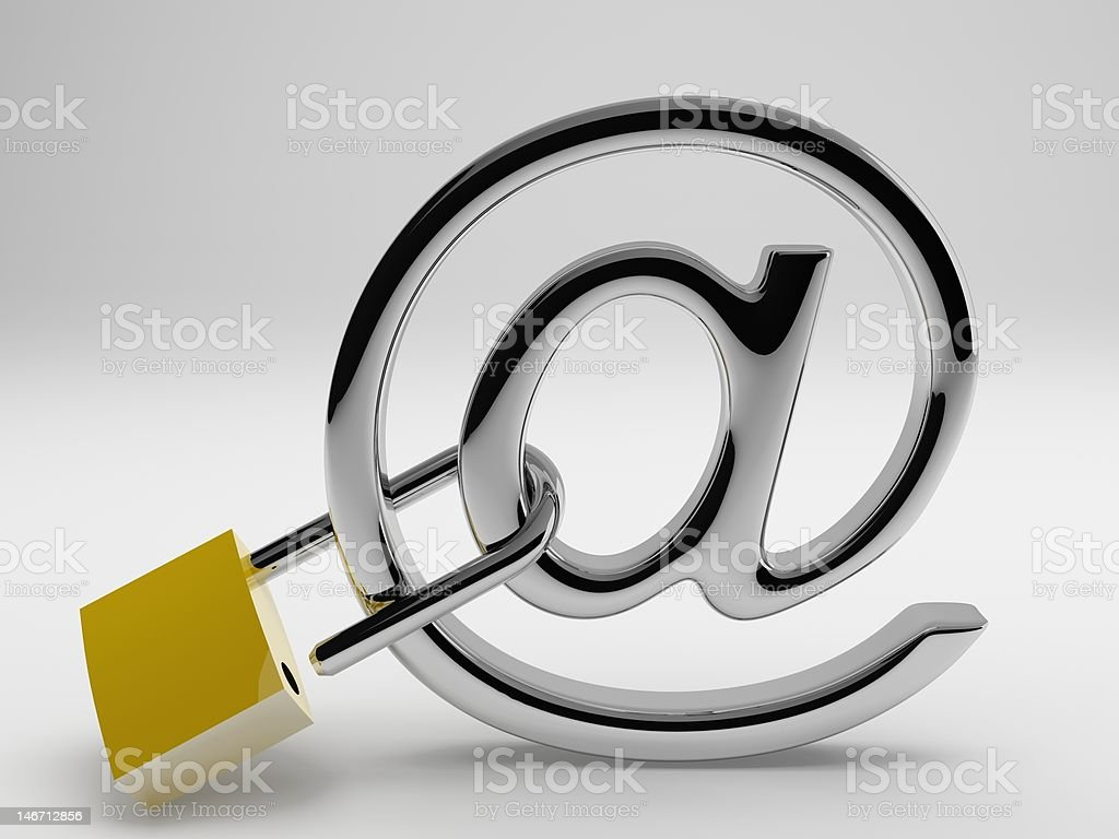 Unsecure Email royalty-free stock photo