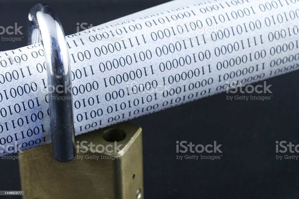 UnSecure Information royalty-free stock photo