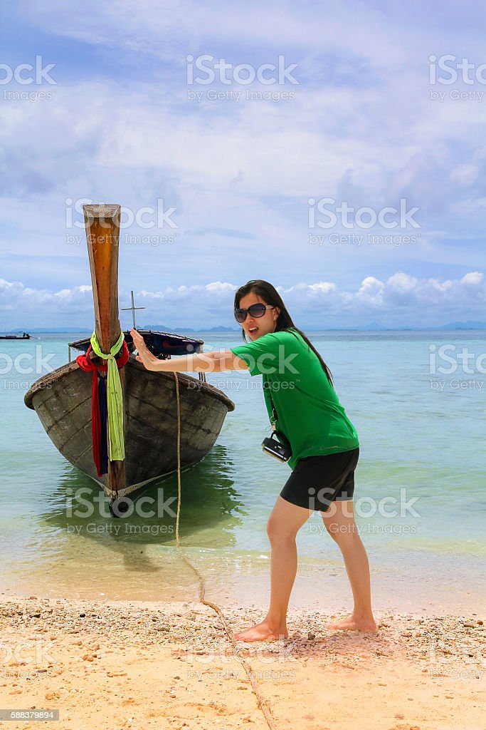 Unseen in Thailand: Tourists enjoy with snorkeling at talaywak S stock photo