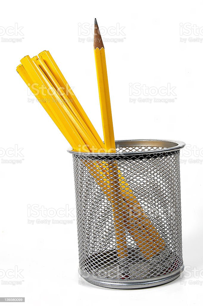 Unsharoened Pencils stock photo