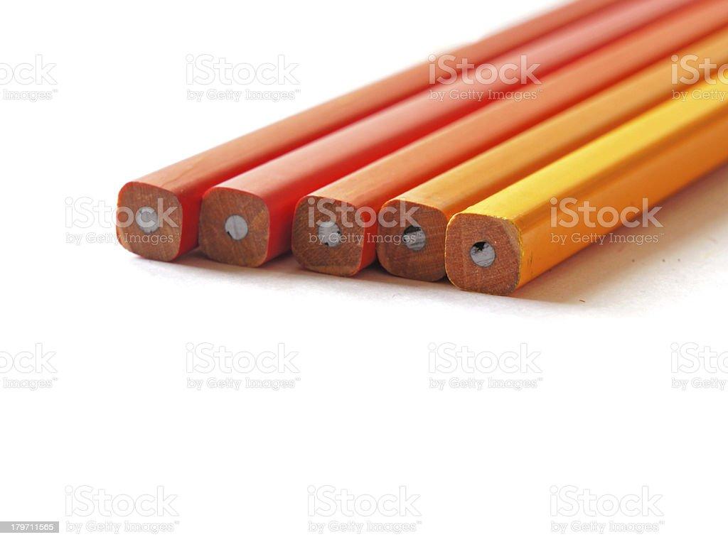 unsharpen pencils royalty-free stock photo