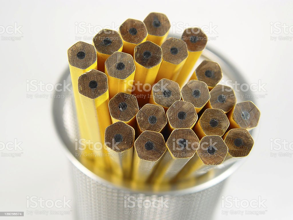Unsharpened Pencils royalty-free stock photo